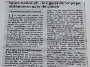 Aire d'accueil des gens du voyage Saint-Genouph